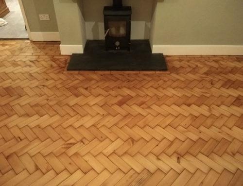 Pitch Pine Parquet Floor Repair and Restoration Honiley Kenilworth