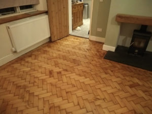 Pitch pine parquet floor repairs Kenilworth