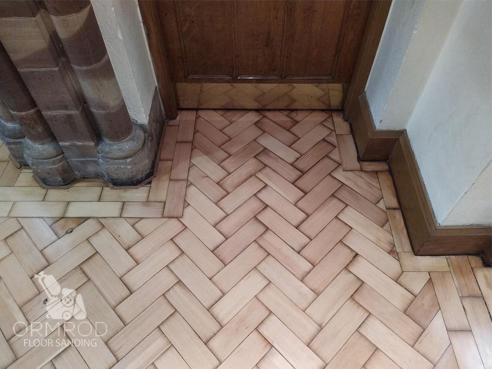 parquet floor pitch pine church floor Stourbridge Worcestershire