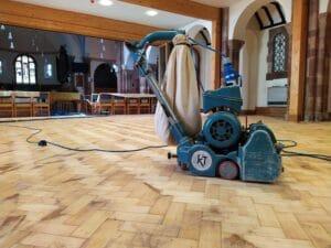 church floor restoration parquet hall Stourbridge