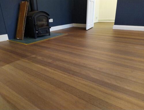 Sanding Mahogany Flooring Crick Northamptonshire