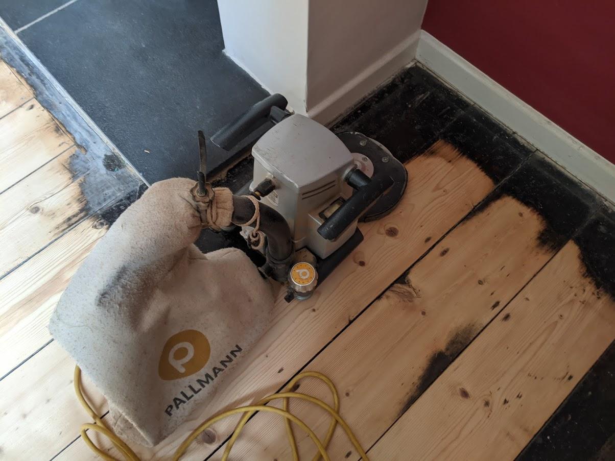 Pine Floorboard Restoration Evesham