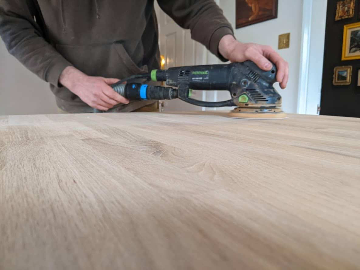 Worktop sanding and refinishing